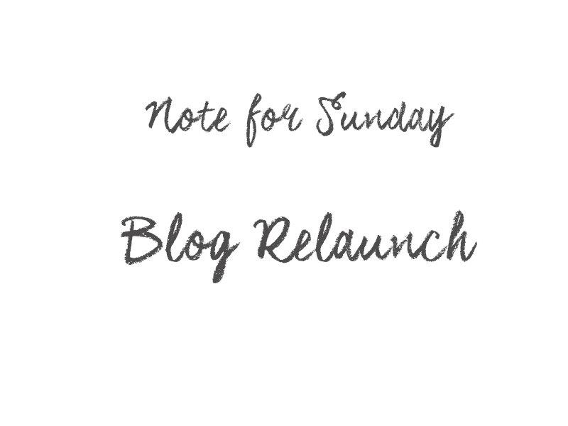 Blog Relaunch