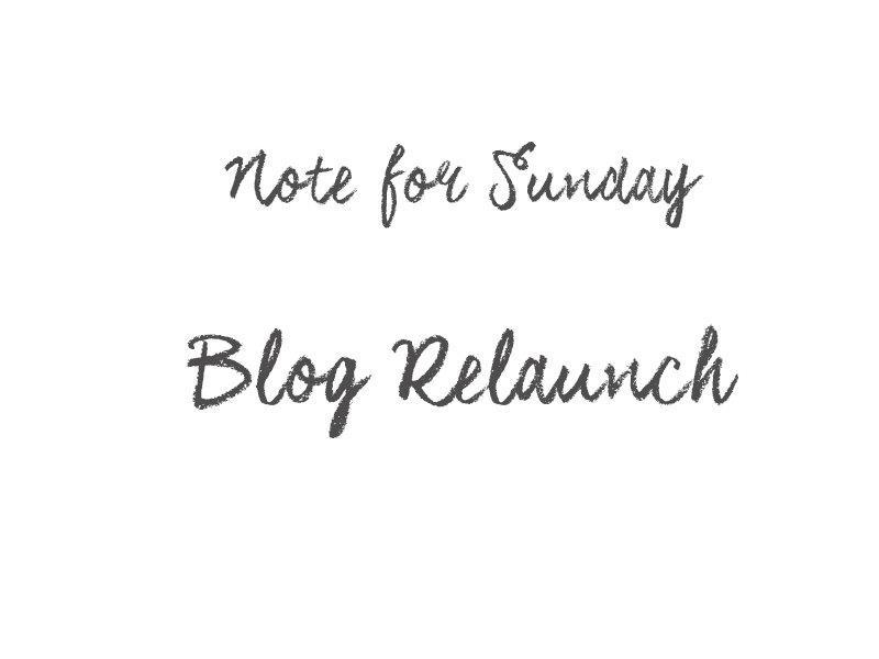 Blog Relaunch